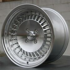 "15"" 15x8 PERFORMA WHEELS 4X100 SILVER RIMS HONDA CIVIC CRX ACURA INTEGRA BMW"