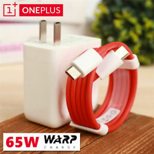 Original OnePlus 65W For OnePlus 9 Pro 8T 7T 8Pro 8TPro Warp Charger+Type-C Cabe