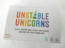 UNSTABLE UNICORNS CARD GAME Complete - HAR