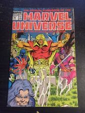 """Marvel Universe#20 Awesome Condition 7.5(1988) """"Dead Edition"""" Final Issue!!"""