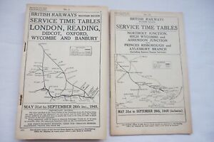 1948 GWR Working Service Timetable Reading Didcot Wycombe Banbury No. 1 & 1A