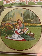 """""""A Moment in Time"""" Sunset Needlepoint Kit #6701 - New Sealed Floral Trees Family"""