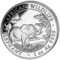 Somalia - 100 Schilling 2019 - Elefant - Privy Mark Schwein - 1 Oz Silber ST