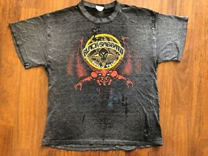 Vintage Black Sabbath T Shirt MOB Rules World Tour 1981   ** Real Deal**