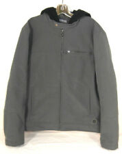 KENNETH COLE REACTION Men's Large Gray Coat With Hodie Front Zipper