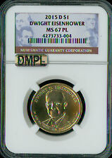 2015-D DWIGHT EISENHOWER PRES. DOLLAR MAC MS67 PL DMPL PQ  POP-19 SPOTLESS