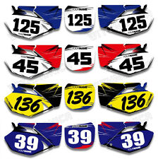 Number Plate Name Decals Motocross Dirtbike Background Fit YAMAHA YZ250F YZ450F