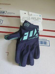 Fox Racing Women's Ripley Short Gel Gloves Ice Blue Medium New G1
