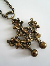 Alte signierte Bronze Designer Halskette Finland Pentti Sarpaneva um 1960