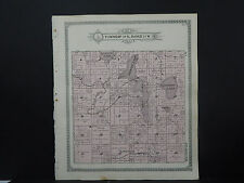 Wisconsin Burnett County Map 1915 Rusk Township, Lakes Q1#28