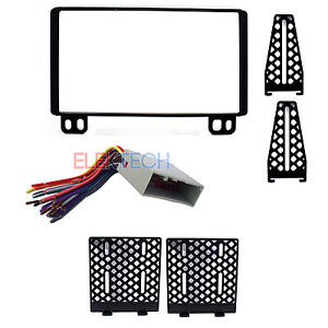Radio Replacement Dash Mounting Kit Double DIN with Harness for Ford/Lincoln