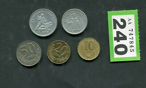 Set of  5  coins of  Albania