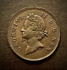 Rare 1733 George II D G Rex Rosa Americana Twopence Pattern Coin VGC