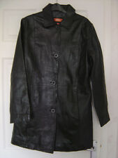 Black leather coat by hElium size 16 - Immaculate and fabulous!