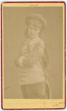 CDV circa 1875. Jeanne, actrice aux Bouffes par Nadar. Actress. Théâtre.