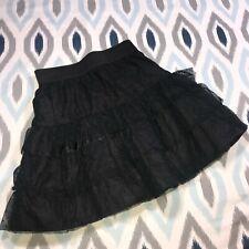 Cynthia Cynthia Steffe Size 2 Black Lace Tiered Polka Dot Skirt Gold Zipper Back