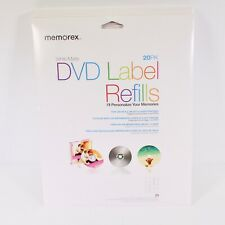 Memorex White Matte DVD Label Refills 20 Pack Lot of 6 20 Packs
