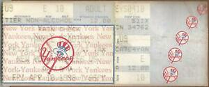Mike Buddie only Career Win 4/10/98 A's @ Yankees Ticket Stub Tino HR #158