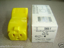 Pass & Seymour 5-15 MaxGrip Straight Blade Connector 15A 125V 5969-Y New in Box