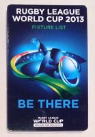 2013 Rugby League World Cup Fixture List New Zealand England Australia Wales