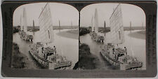 Keystone Stereoview US Army Goods on Pei-ho River, CHINA from the 1920's 400 Set