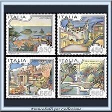 1986 Italia Repubblica Turismo Turistica n 1755/1758 **