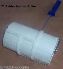 "Concrete Cement Landscape Curbing 7"" Ashler/Ashlar Imprint Texture Roller Stamp"