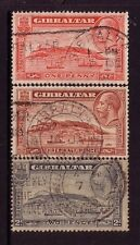 GIBRALTAR....  1931 pictorials  1d, 1½d, 2d used, perf 13½x14