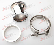 UNIVERSAL STAINLESS STEEL 2.5'' 4 BOLT TO 3.0'' V-BAND ADAPTER TURBO GT35 T3 KIT