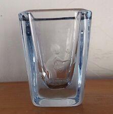 Strombergshyttan Swedish Glass Vase Vintage Signed & Numbered