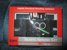 NEW Totes Travel Sewing Kit Stylish Practical Mending Assistant Zebra Print Case