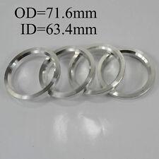Wheel Hub Centric Rings Spacer OD=71.6mm ID=63.4mm Variable Hole Aluminium Alloy