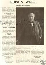 Antique '17 Thomas EDISON WEEK Favorite Invention Inventor Phonograph CONTEST Ad
