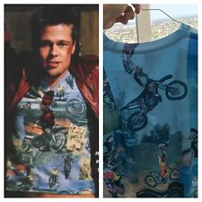 NEW Tyler Durden Fight Club Motocross Shirt Op 523 Moto Rare Size XS Brad Pitt