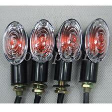 4x Motorcycle Black Mini Cat Eye 10W Bulbs Turn Signal Indicator Amber Light 12V