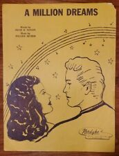 "VINTAGE 1947 SHEET MUSIC ""A MILLION DREAMS"" BY OSCAR MINTON & WILLIAM ARTHUR"