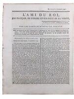 Marie Antoinette en 1791 Rare Journal Royaliste Brest Meuse Saint Malo Sarre