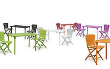 NARDI Garten - Balkon-Camping Set  ZIC -ZAC  klappbar   2 Stühle-Tisch-ExtraKit