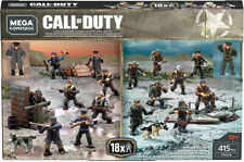 Mega Construx Bloks - Call of Duty : FXG06 WWII Battle Pack ,16 figures + 2 Dogs