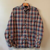 J. Crew Men's Heathered Cotton Button Down Shirt Plaid Long Sleeve Size Small