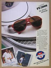 1988 Vuarnet PX2000 PX-2000 Sunglasses tennis theme vintage print Ad