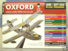 OXFORD DIECAST 48 PAGE POCKET CATALOGUE JUNE TO SEPTEMBER 2016 RELEASE PROGRAMME