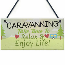 Caravan Sign Caravan Accessory Novelty Plaque Camping Sign Nan Grandad Dad Gift