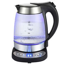 Grafner Digitaler Wasserkocher Glas & Edelstahl mit Temperaturwahl