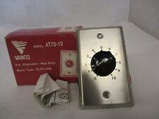 New Vanco At70-10 Speaker Line Attenuator 70.7V 10W