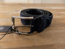 BARRETT blue suede belt - Size 105 (fits size 40 waist best) - NWT