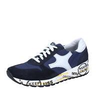Chaussures Hommes BRUNO VERRI 39 Ue Baskets Bleu Tissu en Daim BS604-39