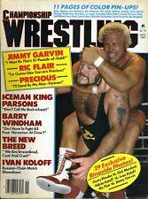 RONNIE GARVIN/IVAN KOLOFF Championship Wrestling Magazine November 1987