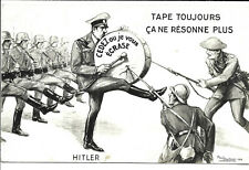 More details for artist drawn anti-hitler card - message from cheshire regt. soldier