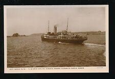 Channel Islands JERSEY Elizabeth Castle SS Alberta c1920s RP PPC